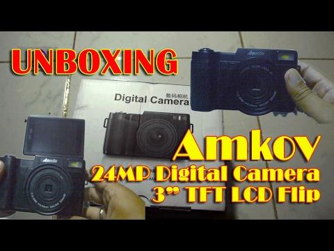Amkov 24MP Digital Camera with 3