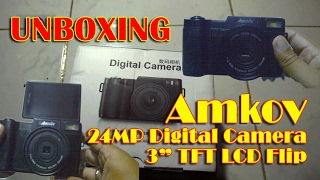 """Video Amkov 24MP Digital Camera with 3"""" TFT Flip LCD - minor Unboxing & review (Bahasa Indonesia) download MP3, 3GP, MP4, WEBM, AVI, FLV Agustus 2018"""
