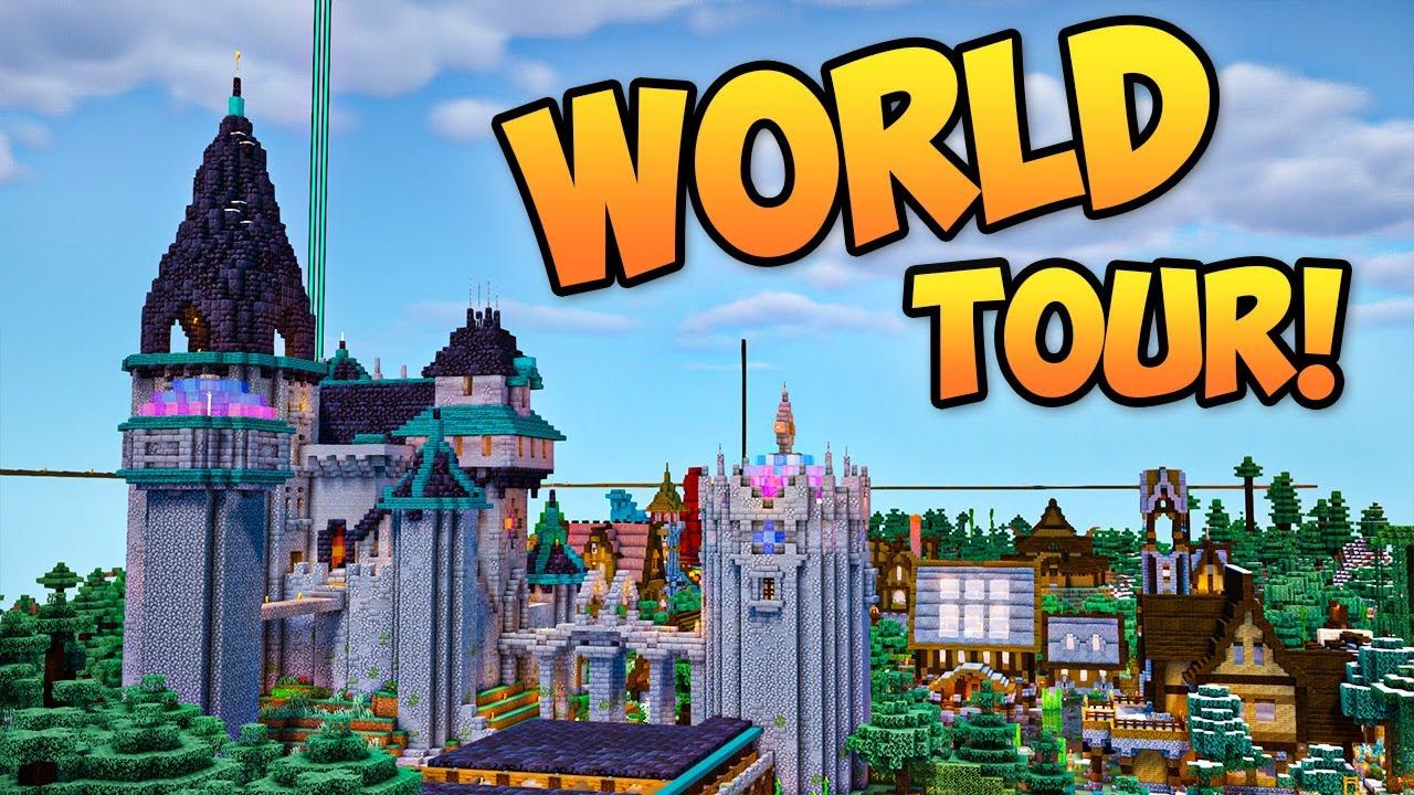 MASSIVE BUILDS & MORE!!! - Patreon Server Tour - Minecraft 1.16.4 Multiplayer Survival
