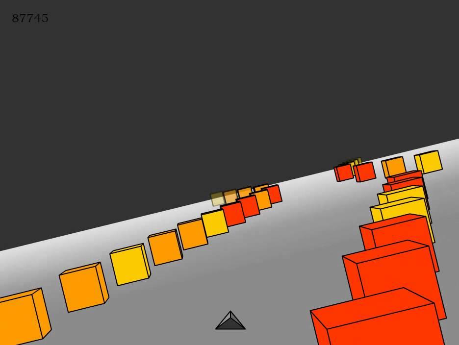 Snorri plays Cubefield - Super block dodging game - YouTube