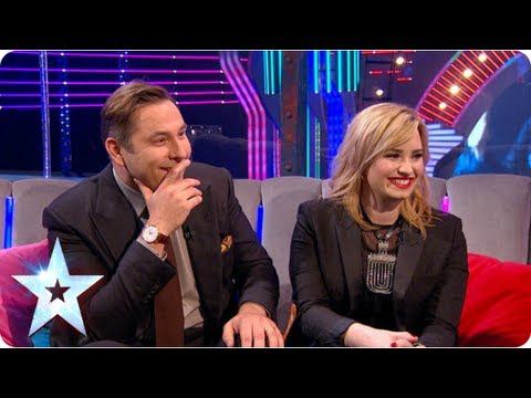 Demi Lovato and David Walliams compare notes on Simon | Semi-Final 3 | Britain's Got Talent 2013