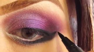 Smoky Purple Dramatic eyes Holiday Look MakeupbyAni Thumbnail