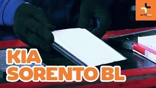 Hvordan bytte Kupefilter KIA SORENTO I (JC) - online gratis video