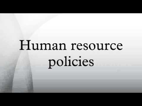 Human resource policies