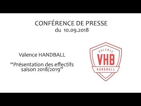 Présentation de l'effectif 2018 2019 du Valence Handball