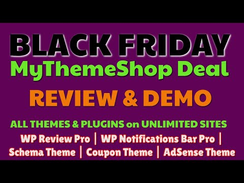 MyThemeshop Black Friday 2019 | Review & Demo | Why I Bought This thumbnail