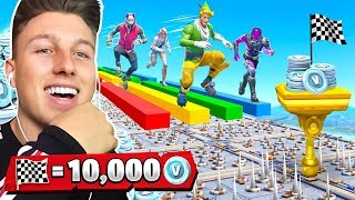 10.000 V-BUCKS DEATHRUN gegen 3 YouTuber in FORTNITE!