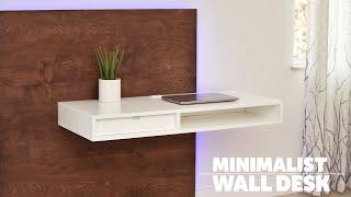 DIY LED floating desk (Space saving desk)