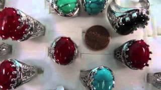antique vintage style turquoise stone fashion ring wholesale wholesalesarong.com