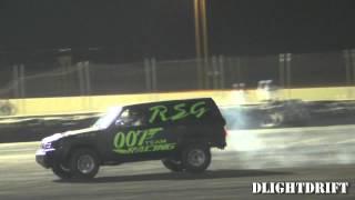 Nissan Patrol VTC Drifts at QRC - استعراض في حلبة قطر