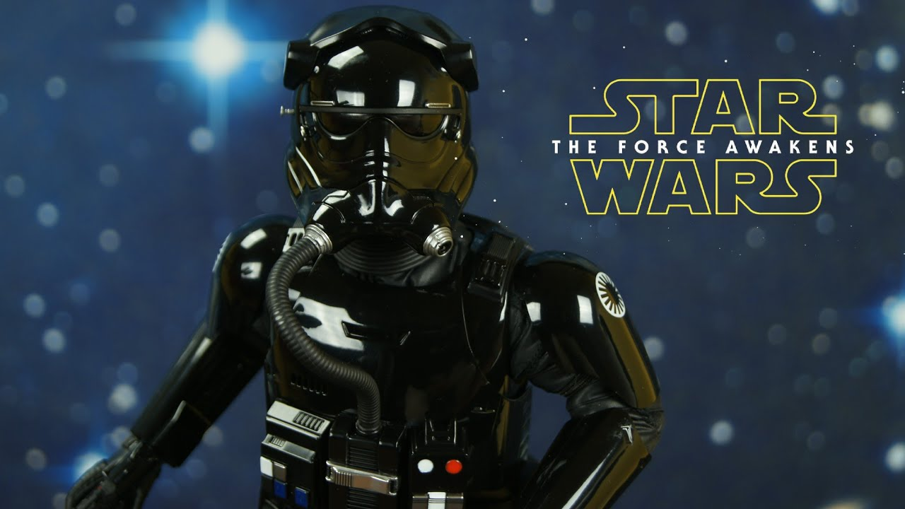 STAR WARS EPISODE 7 FIRST ORDER TIE PILOT 1//6 HOT TOYS