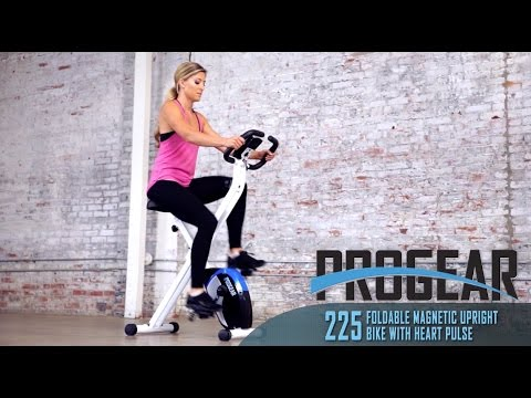 3102 - Progear 225 Foldable Magnetic Upright Bike with Heart Pulse