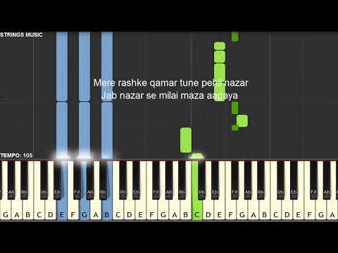 Mere Rashke Qamar | Baadshaho | Piano Tutorial