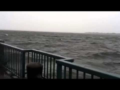 Hurricane Sandy at Canarsie Pier in Canarsie Brooklyn