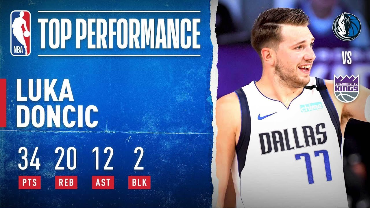Luka GOES OFF For 34 PTS, 20 REB (Career-High) & 12 AST In OT W! - 8/4/20