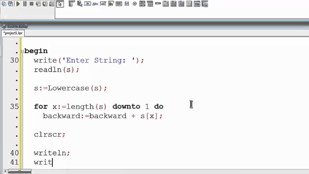free pascal program tutorial 25 palindrome strings