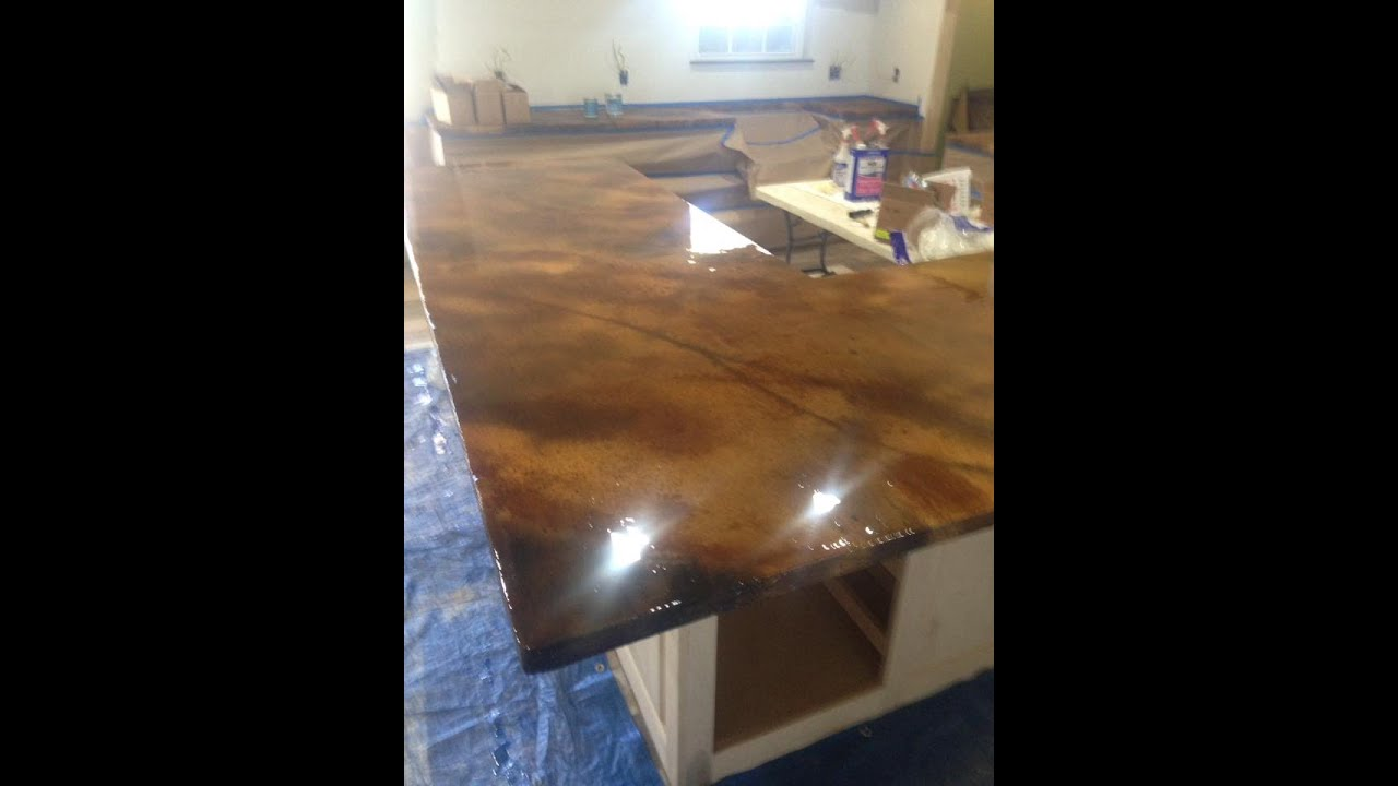 Concrete Countertop From Start To Finish by Ken\'s Custom Designs ...
