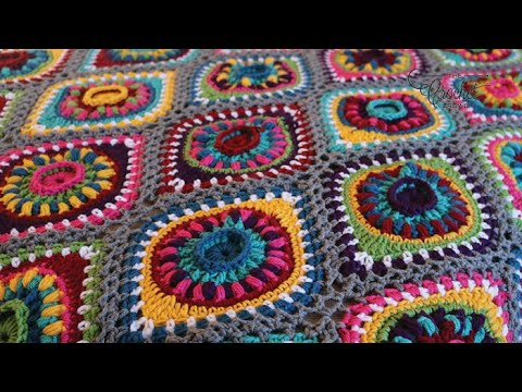 Crochet Along: Boho Christmas Ornament Afghan Rnds 1 – 3