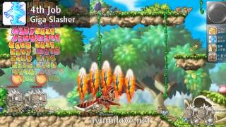 Ayumilove MapleStory Kaiser 1st 2nd 3rd 4th Job Skill Preview