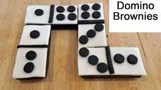 Game Night Dominoes Chocolate Brownies