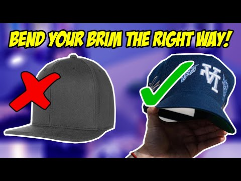 HOW TO BEND THE BRIM ON YOUR HAT! (TUTORIAL)
