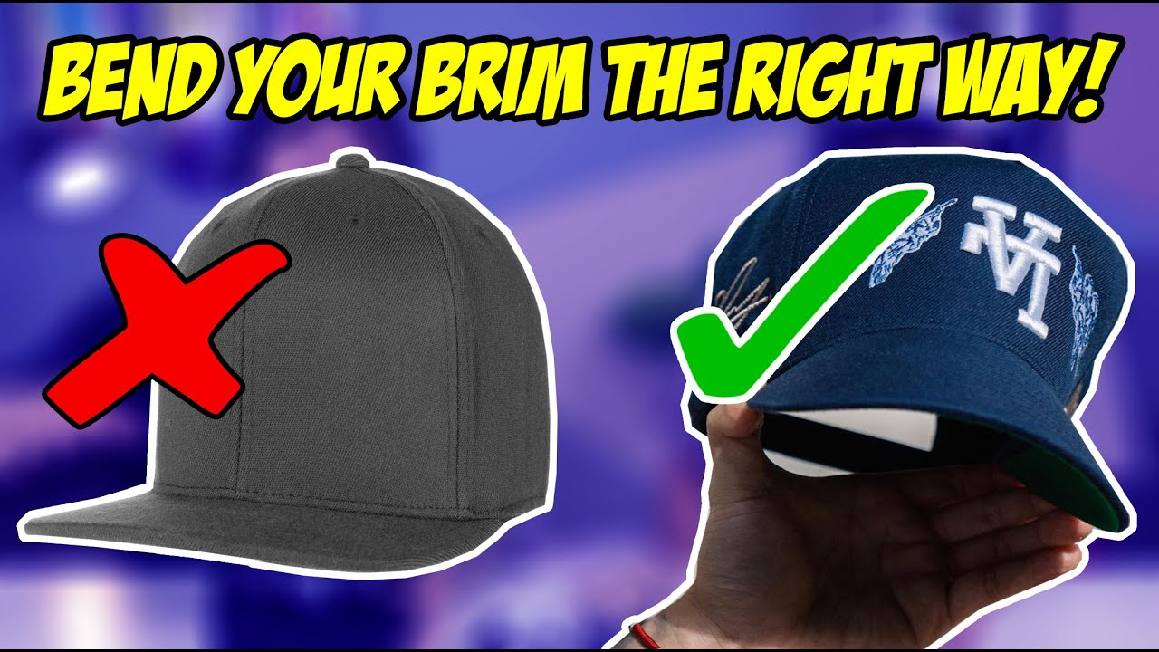 How To Bend The Brim On Your Hat Tutorial Youtube