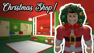 I MADE A BLOXBURG CHRISTMAS SHOP IN MY TOWN! (Roblox Roleplay)