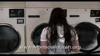 Two Cute Girls in Laundromat - Utah