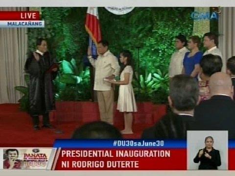 GMA: Presidential Inauguration ni Rodrigo Duterte