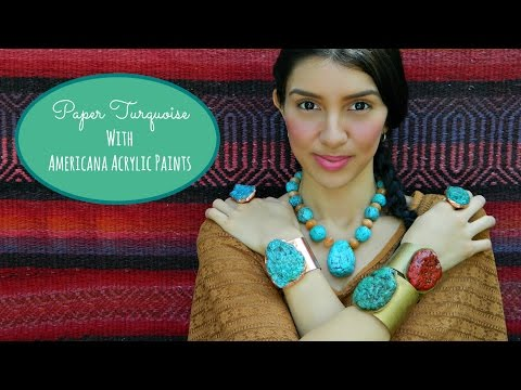 Create Paper Turquoise for Jewelry