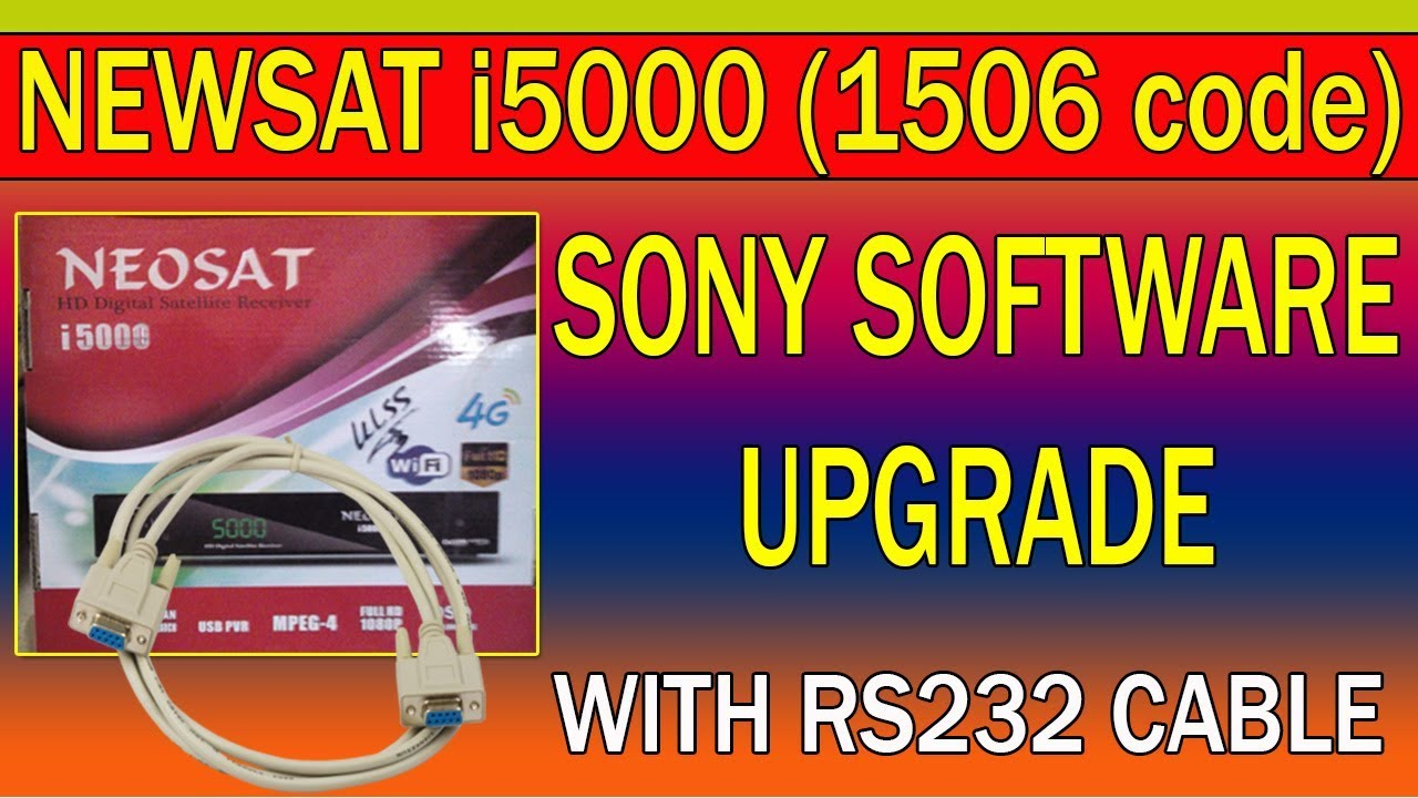 Newsat i5000 Software Upgrade With Rs-232 Cable (1506 Code)