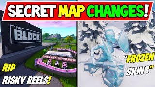 "ALL *NEW* FORTNITE SEASON 7 SECRET MAP CHANGES! ""The BLOCK + FROZEN SKINS!"" (Season 7 Storyline)"