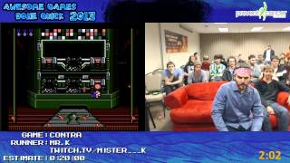 Contra  - SPEED RUN by Mr K  in 0:11:34 at Awesome Games Done Quick 2013 [NES]