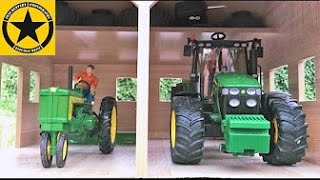 BRUDER JOHN DEERE 7930 meets ERTL John Deere 720 in BRUDER TRACTORS for CHILDREN