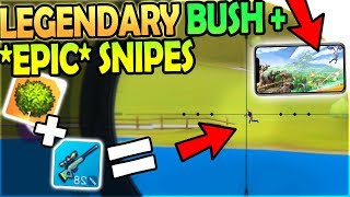LEGENDARY BUSH + *EPIC* SNIPES - FORTNITE MOBILE CLONE- Fortcraft Battle Royale Gameplay Android iOS
