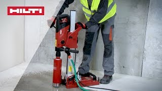 HOW TO assemble the Hilti DD 150 coring tool for hand-guided wet drilling