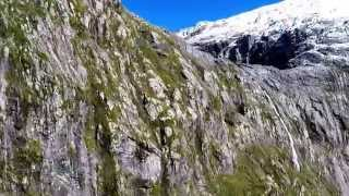 Helicopter Flight Over Fiordland National Park, New Zealand [HD] [60FPS]