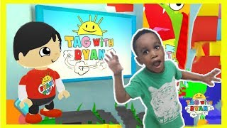 Tag with ryan red t - shirt ryan gameplay by Prince | Mobile games for Kids