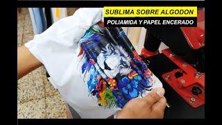 Como Sublimar sobre Algodon con Poliamida y papel encerado