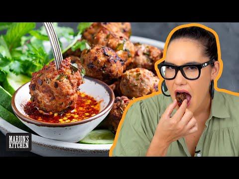 Crispy, golden, spicy Thai Meatballs  | Marion's Kitchen