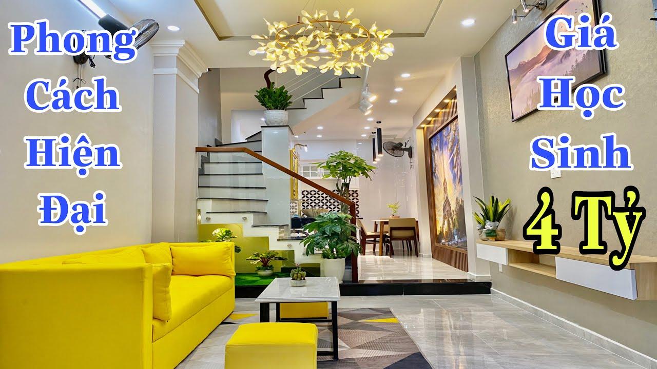Bán nhà Gò Vấp  Trời ơi tin được không ? 4 tỷ có ngay nhà đẹp thiết kế hiện đại đẹp mắt  giá rẻ
