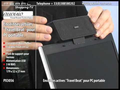enceintes actives pour pc portable 39 39 travel beat 39 39 youtube. Black Bedroom Furniture Sets. Home Design Ideas