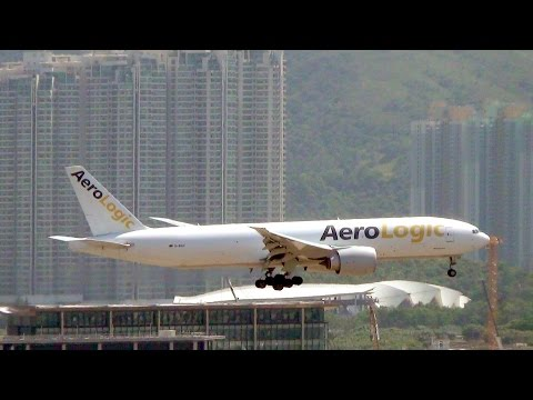 Hong Kong Airport Plane Spotting. Many Unusual Airlines and Planes