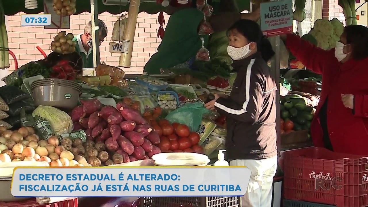 Decreto estadual é alterado: fiscalização já está nas ruas de Curitiba