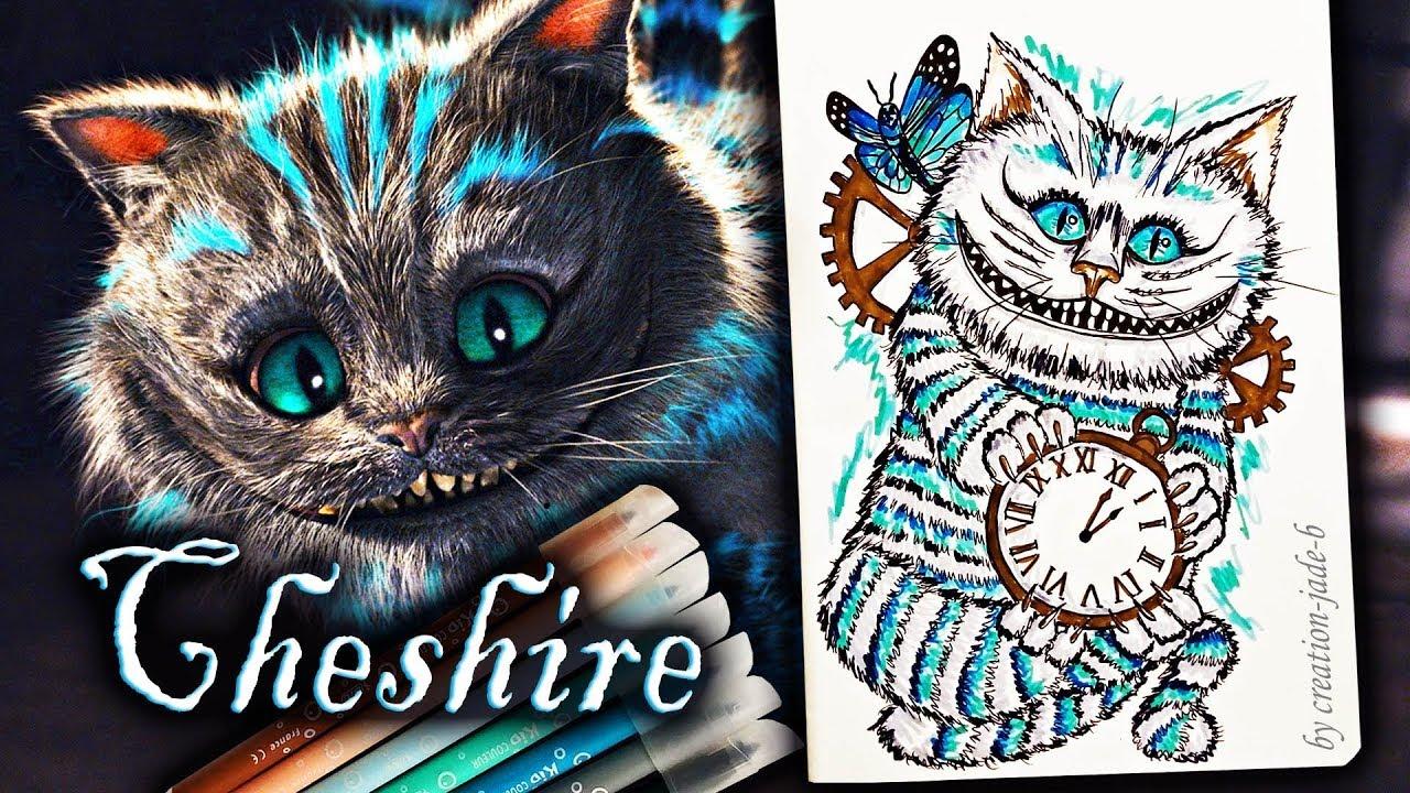 Comment Dessiner Le Chat Du Cheshire Alice In Wonderland
