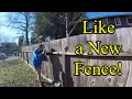 How to Fix Leaning Wooden Fencing--Cheap!...This Will Save $$$$$