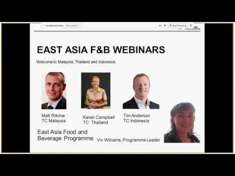 East Asia F&B Webinar: Indonesia, Thailand and Malaysia