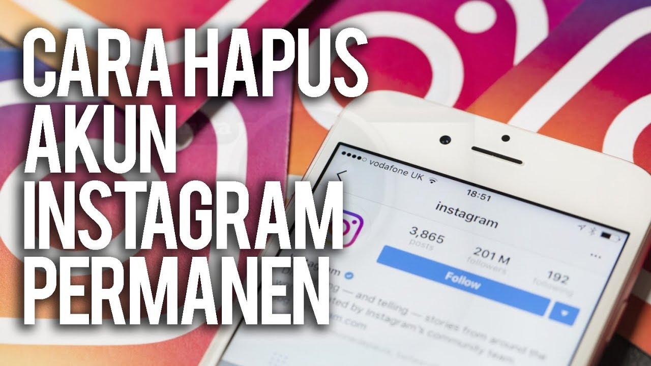 Cara Menghapus Akun Instagram Secara Permanen | Tutup Akun IG