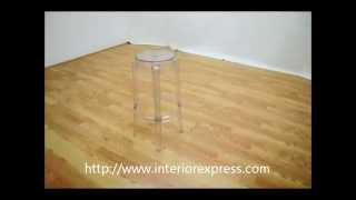 Interiorexpress Ghost Stools - Bettino Clear Acrylic Bar Height Bar Stools