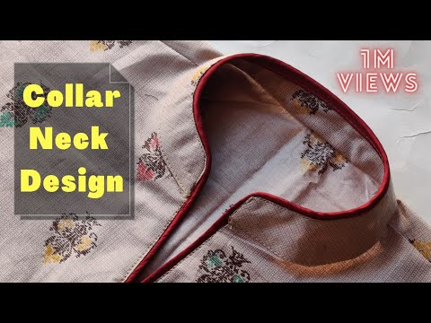 Collar Kurti Front Neck Design Cutting and Stitching || Collar Neck Design